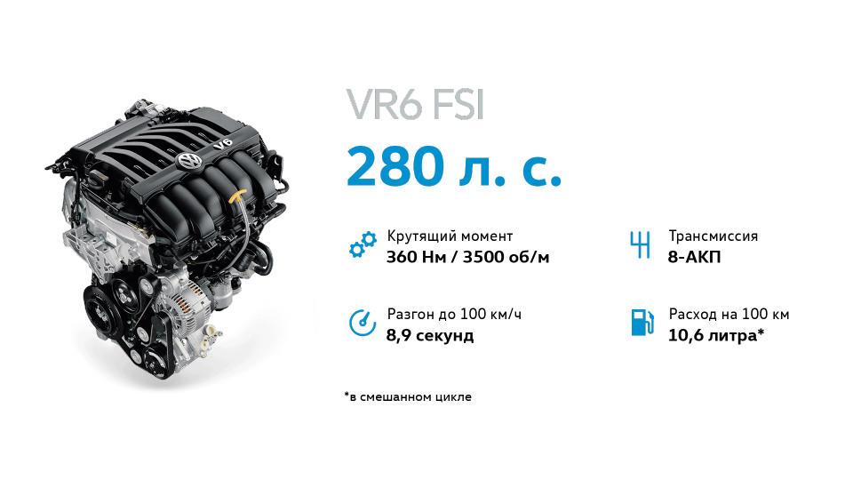 Также доступен 3,6-литровый атмосферный мотор V6 мощностью 280 л.с.