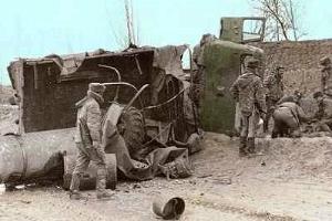 От ГАЗ-66 при подрыве мало что оставалось ©Фото armyman.info