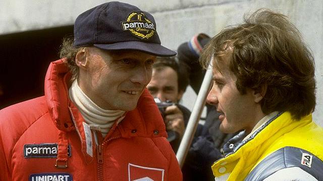 Ники Лауда и Жиль Вильнев. Лауда считал его одним из лучших за всю историю гонок