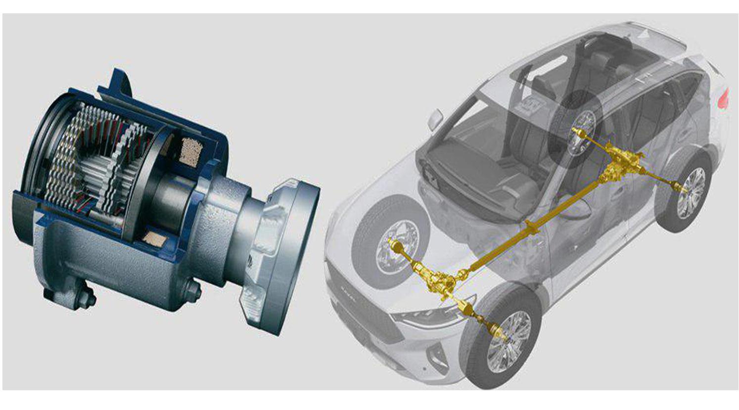 Многодисковая муфта NexTrac отправляет постоянно 10% крутящего момента на заднюю ось. Поэтому привод здесь — постоянный полный