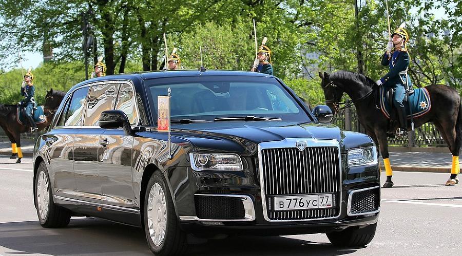 Российский автомобиль марки Aurus ©Фото пресс-служба Президента России