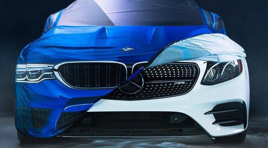 Mercedes в костюме BMW ©Скриншот твита BMW USA