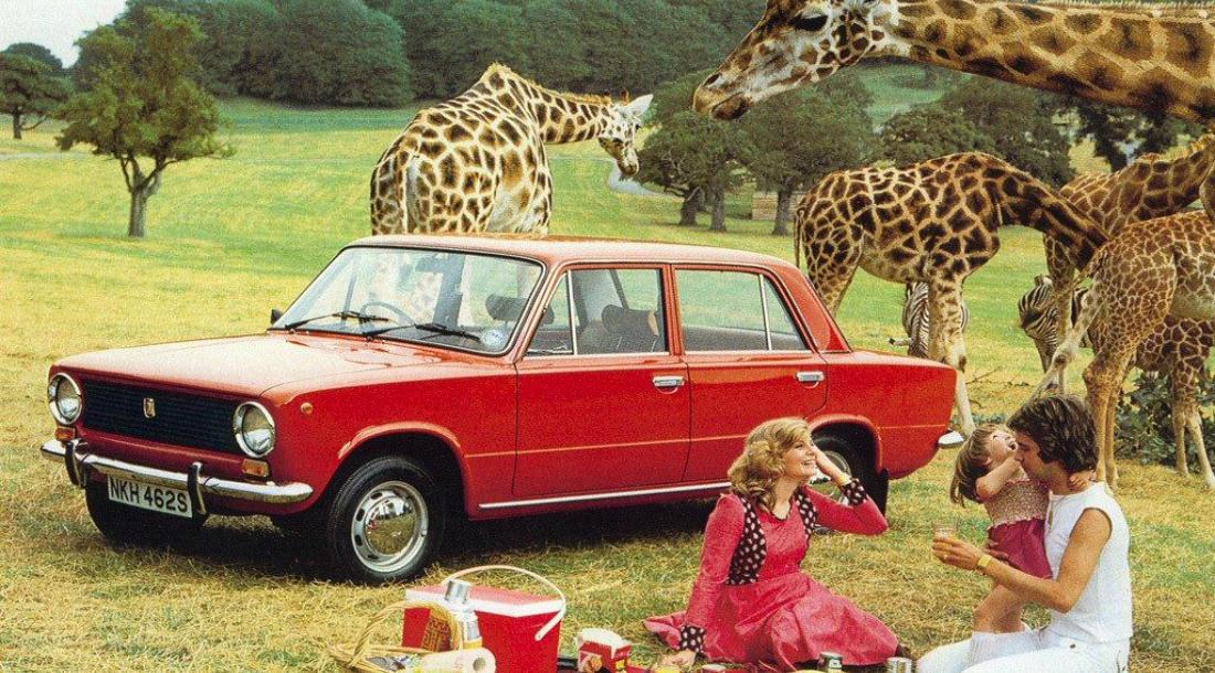 Вот такой сюрреализм. Обратите внимание, это британская реклама, так как руль автомобиля расположен справа