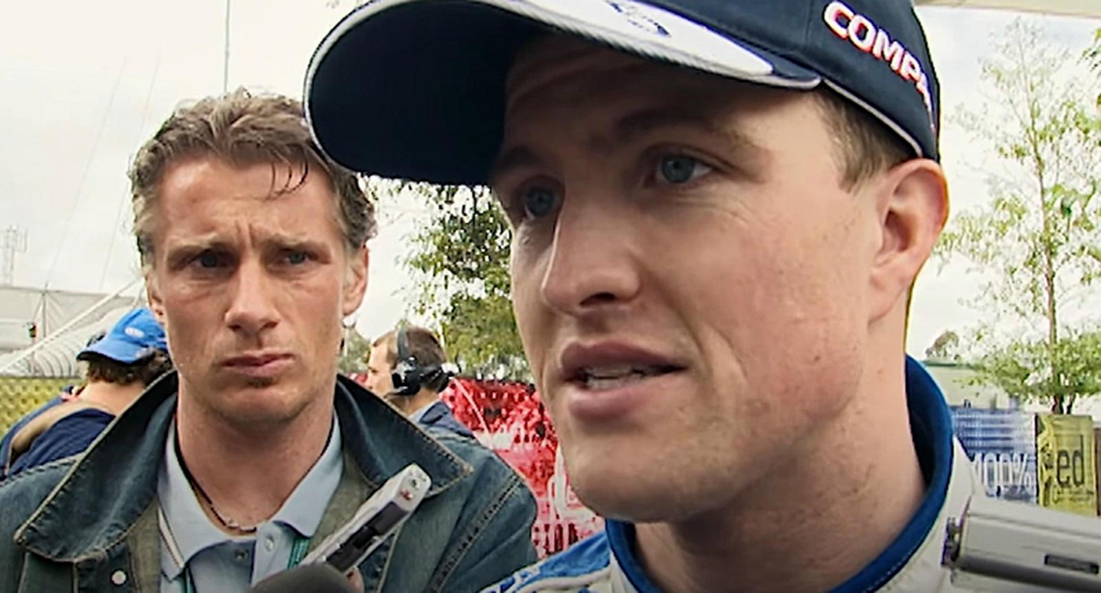 Ральф после знаменитой аварии на этапе в Австралии. 2002 год