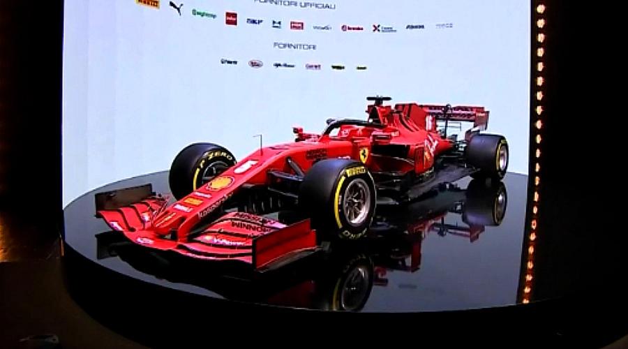 Новый болид Ferrari ©Скриншот трансляции официального канала Ferrari на YouTube