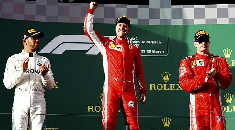 Подиум Гран-при Австралии 2018