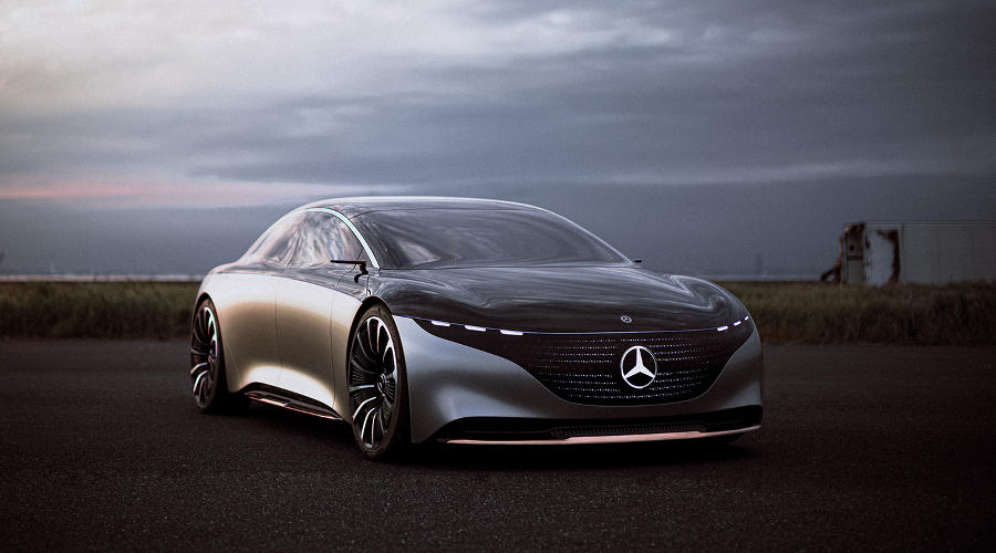 Электрокар EQS ©Фото Mercedes-Benz