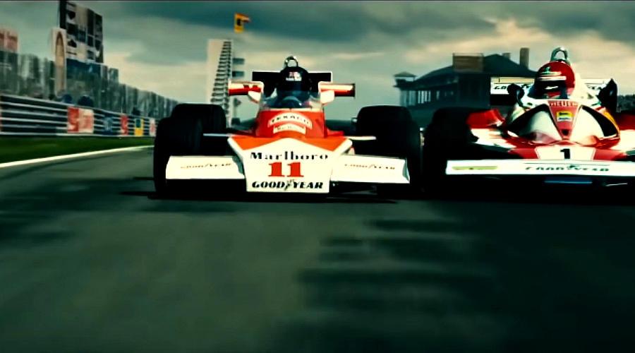 Кадр из фильма «Гонка». Реж.: Рон Ховард. 2013 год