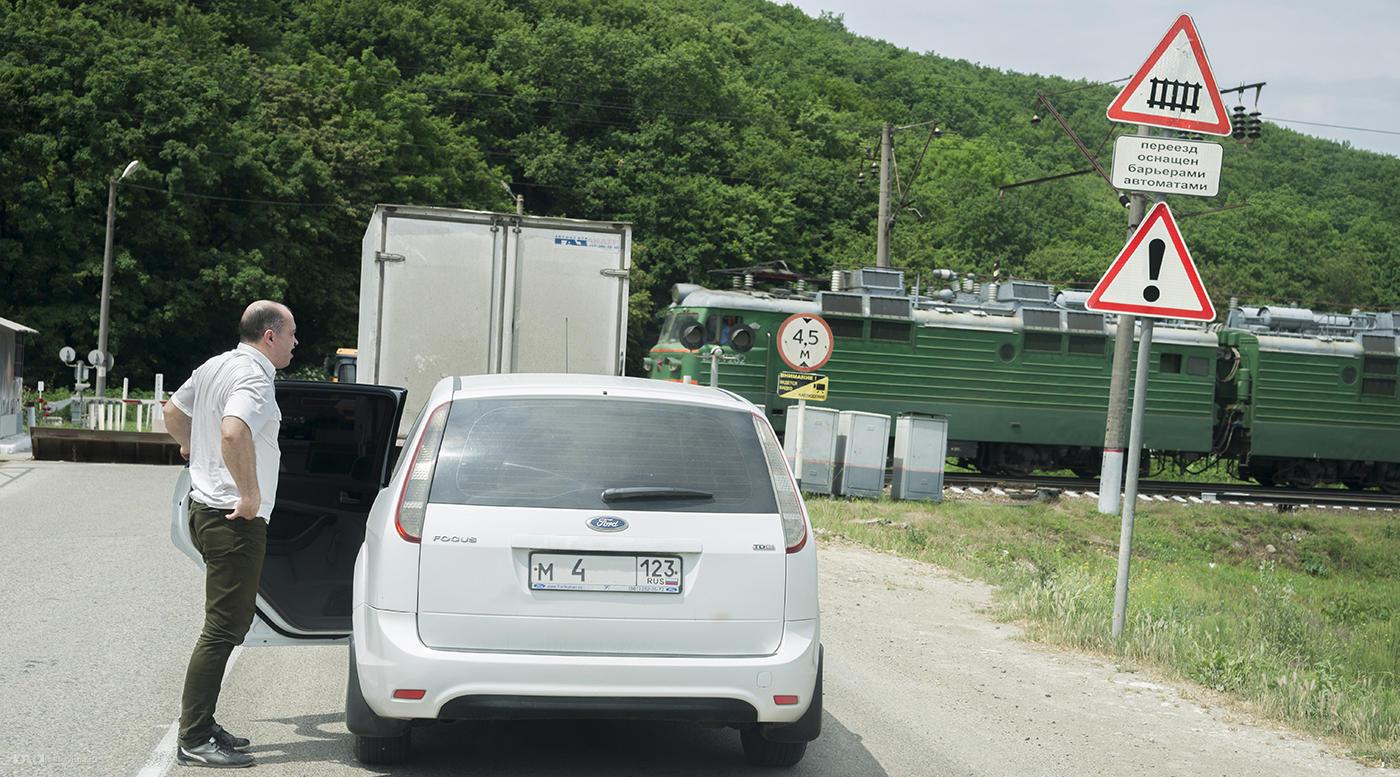 Железнодорожный переезд. Нужно быть внимательным